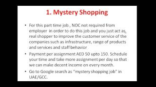Part time jobs in Dubai/Make Extra income(, 2015-12-30T18:12:39.000Z)