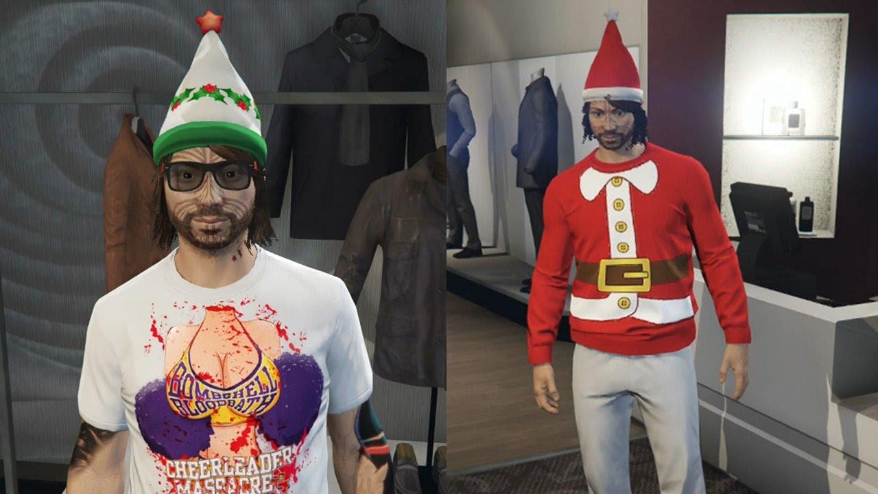 gta 5 online importexport dlc festivechristmas clothing outfits hats more gta v - Gta V Christmas