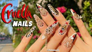 Eng) 크루엘라❤️ 달마시안 네일아트 Disney Cruella Nails