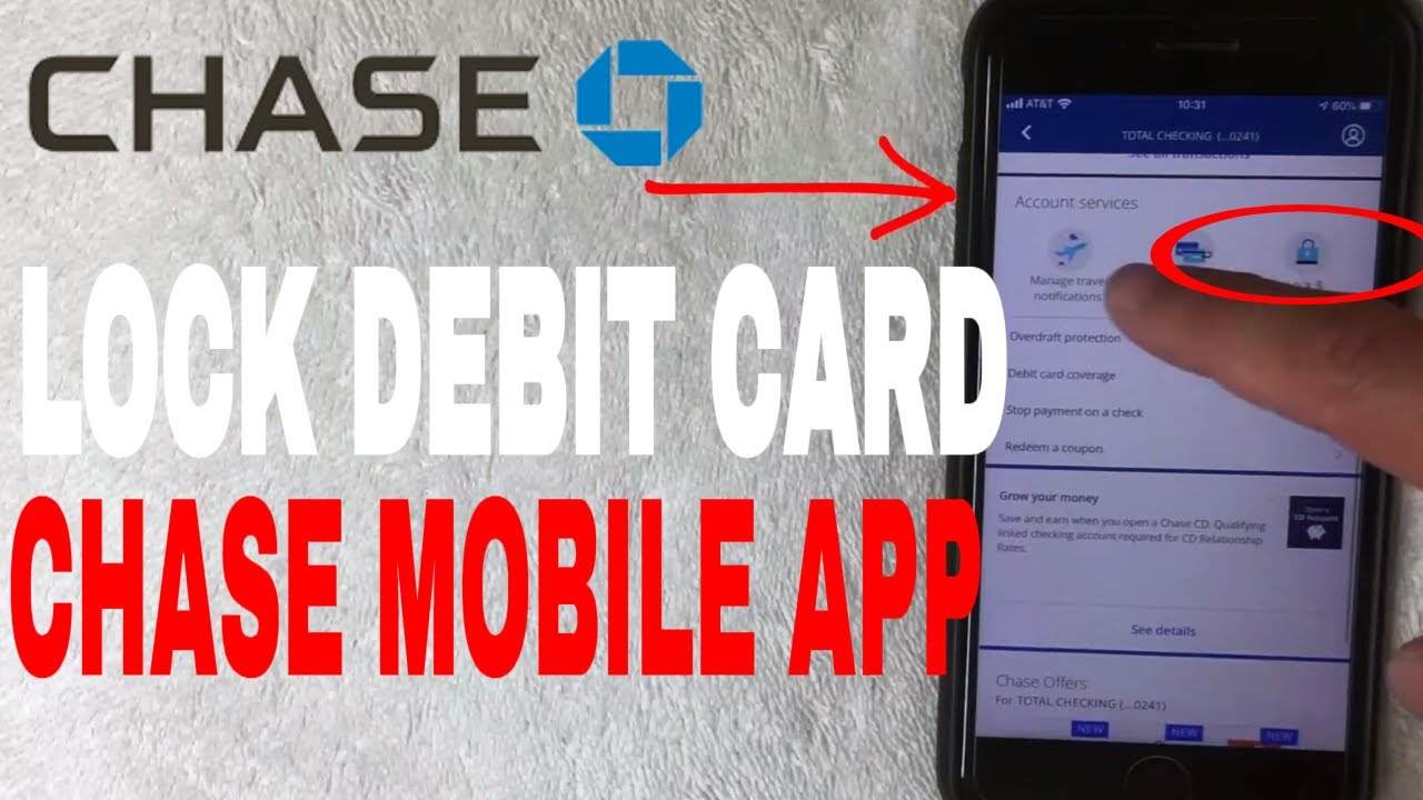 ✅ How To Lock Chase Debit Card With Mobile App 🔴