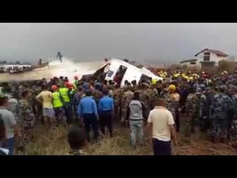 Plane crashes at Nepal's Kathmandu airport