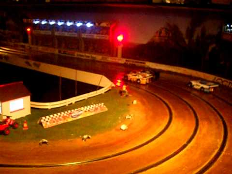 Slot Car Oval Racing Cape Town Bonzai Speedway Dscn2469 Youtube
