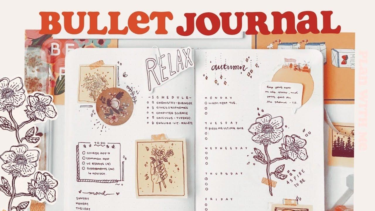 bullet journal october setup
