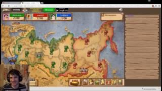 Пьяненький Артем Черный обозревает игру Triviador с вебкой