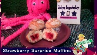 Strawberry Surprise Muffins : Jelly Built Right In!