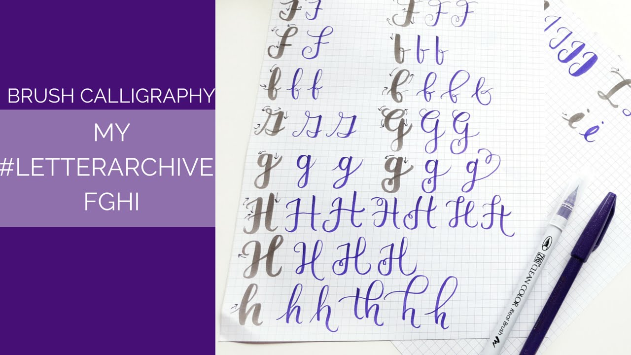 My  LetterArchive  How I Write FGHI - YouTube 2ead0d2e2ad4