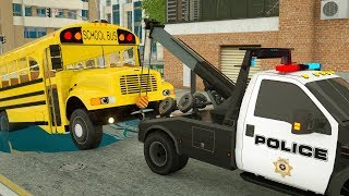 Wheel City Heroes (WCH) - Sergeant Lucas the Police Car | Helping the School Bus | Video for Kids