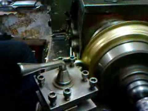 Home Made Lathe Metal Spinning Youtube