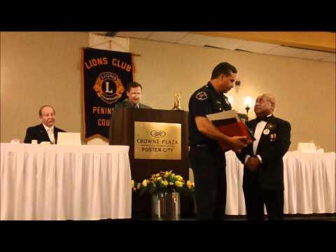 2010 Lions Club Heroim Award Recipient, Menlo Park Firefighter Anthony Morales