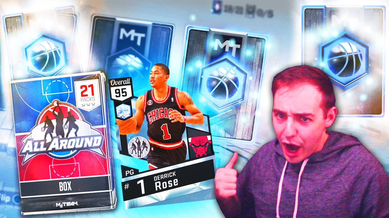 752318d9bfe8 NBA 2K17 My Team WE PULLED DERRICK ROSE! NOT CLICKBAIT FIRE PACKS TONS OF  DIAMONDS!