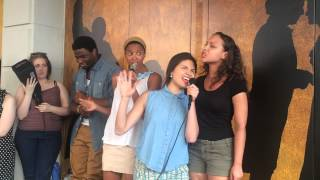 HAMILTON Ham4Ham 8/4/15 with Renée Elise Goldsberry, Phillipa Soo & Jasmine Cephas Jones