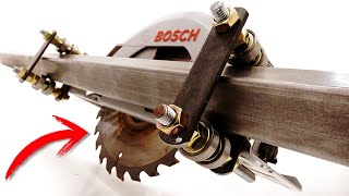 AWESOME!  How to make the BEST GUIDE for homemade CIRCULAR SAW + 3 x 1 BONUS