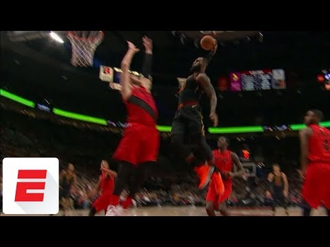 LeBron James throws down epic dunk on Jusuf Nurkic | ESPN