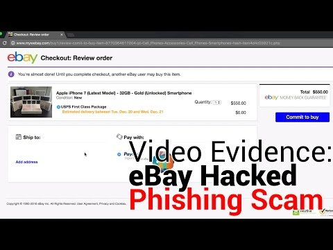eBay Hacked Redirected to Phishing Scam Site
