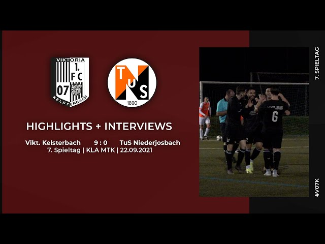 Viktoria Kelsterbach - TUS Niederjosbach   7. Spieltag   Highlights + Interviews   22.09.2021