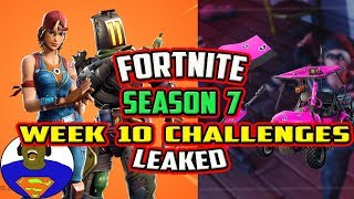 FORTNITE SEASON 7 WEEK 10 CHALLENGES *LEAKED* - ALL UNRELEASED COSMETICS FOR V7.30 SUPPORT-A-CREATOR