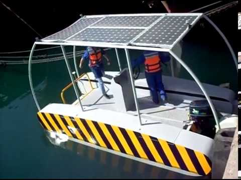 Mondial first Solar depollution boat (AQUA FLORE PROTECT)
