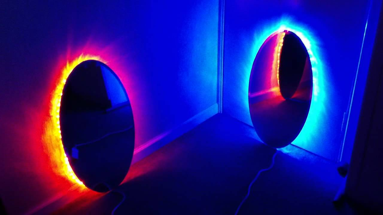 Making Portal Mirrors Testing Led Ropes P2 Youtube