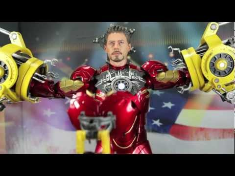 Iron Man 2 Hot Toys Suit-Up Gantry With Mark IV Iron Man 1/6 Scale Collectible Figure Set Review