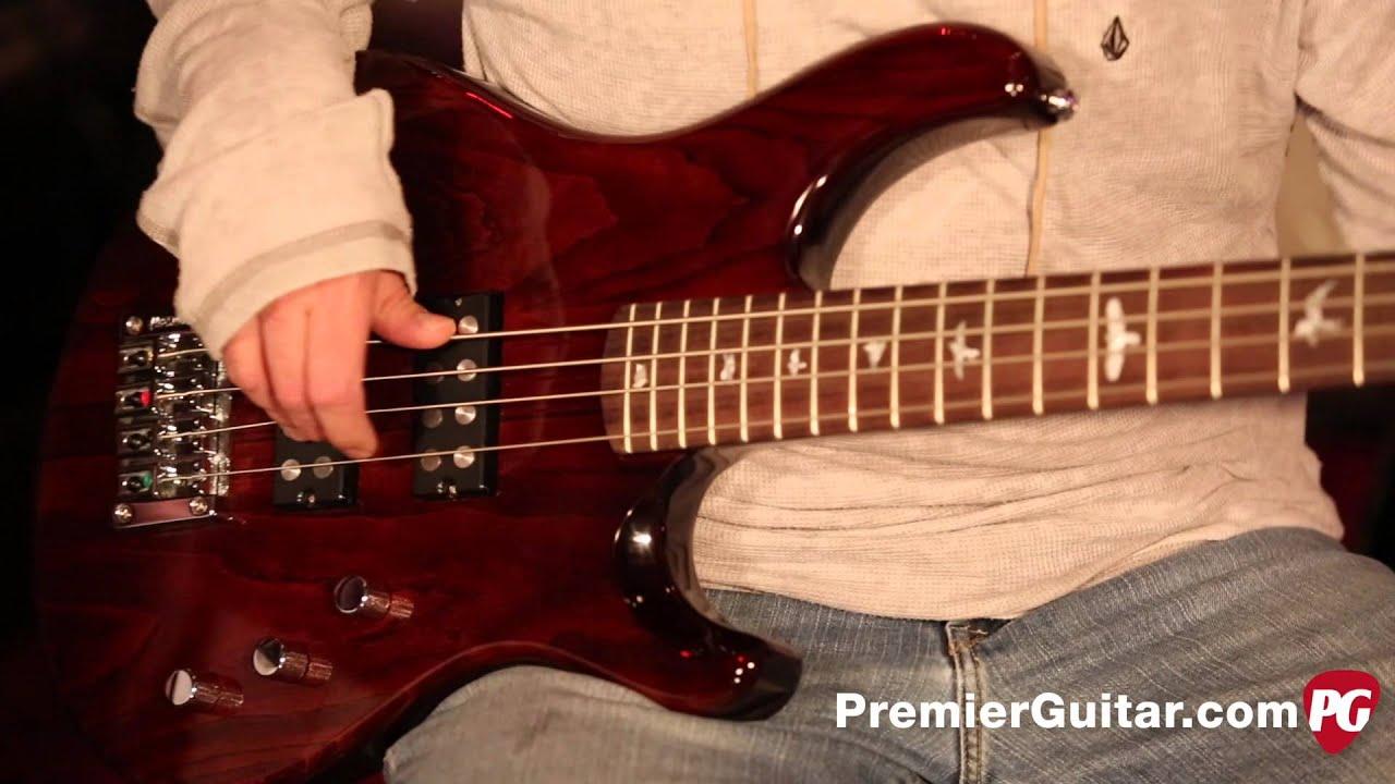 prs guitars se kingfisher bass youtube