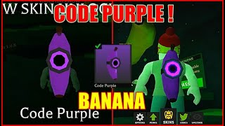 NEW CODE for the CODE PURPLE BEACON in BANANA EATS ROBLOX