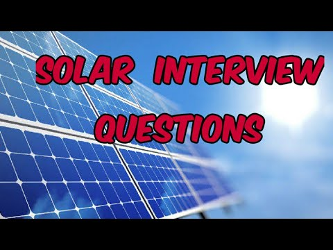 Solar Design Engineer Interview Questions | Electrical Engineering Interview Questions