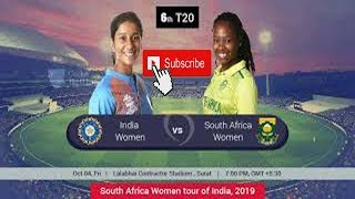 India Women Vs South Africa Women  6th T20 Full Highlights 2019