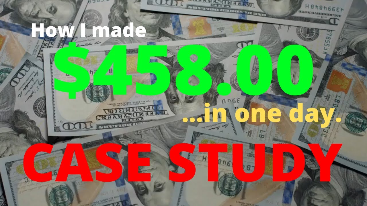 12 Minute Affiliate - How I Earned  458 in One Day CASE STUDY RESULT Make Money Online Home Business