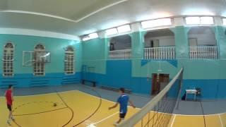 Нападающий удар. Волейбол тренировка 2015-09-10