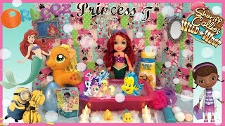 Disney Princess toys Little Mermaid ARIEL TAKES ORBEEZ BUBBLE BATH Egg Surprise Toys My Little Pony