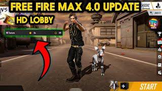 Free fire max Hd lobby Gameplay new free fire max 4.0 update