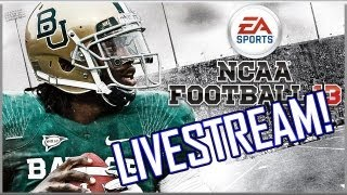 NCAA Football 13: LIVESTREAM! Gameplay and FULL Games from the new NCAA 13!