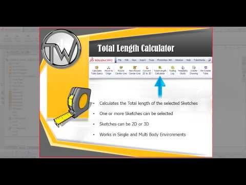 TubeWorks Feature: Total Length Calculator