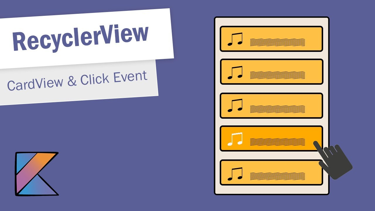 RecyclerView with CardView in Android Studio - Part 1