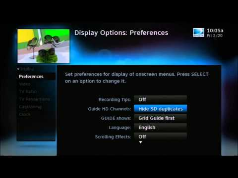 How to Show HD or SD channels in your DIRECTV Guide