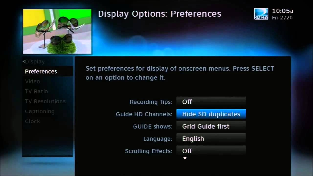 how to show hd or sd channels in your directv guide youtube rh youtube com directv dvr user guide directv dvr user guide