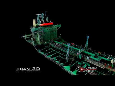 3D scanning and intelligent 3D modelling of ship