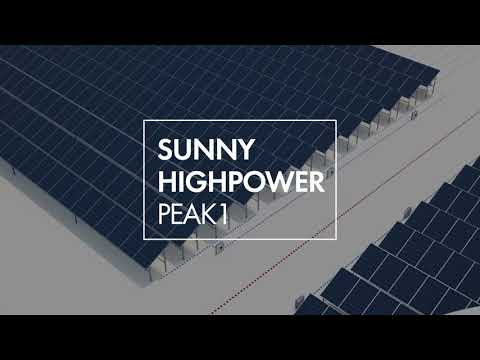 Sunny Highpower PEAK1: The easy scalable solution for large PV systems