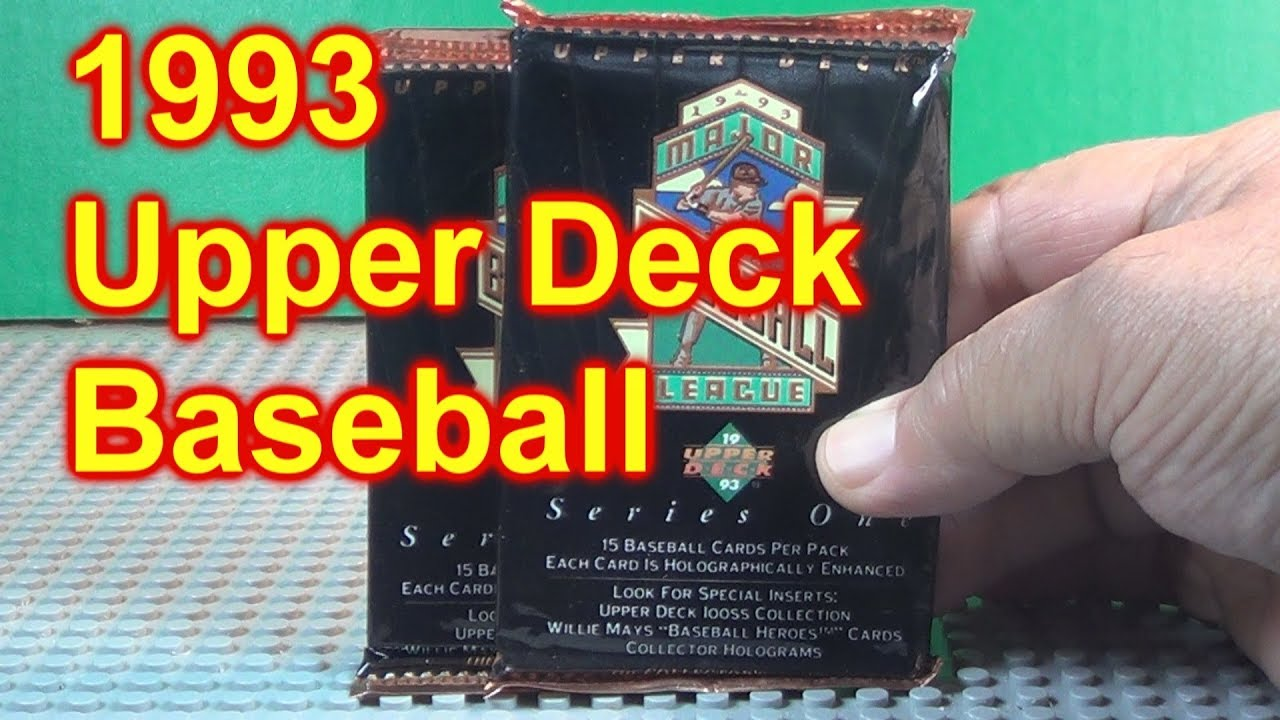 1993 Upper Deck Baseball Cards Opening 2 New Packs Rookie Year Of Jeter