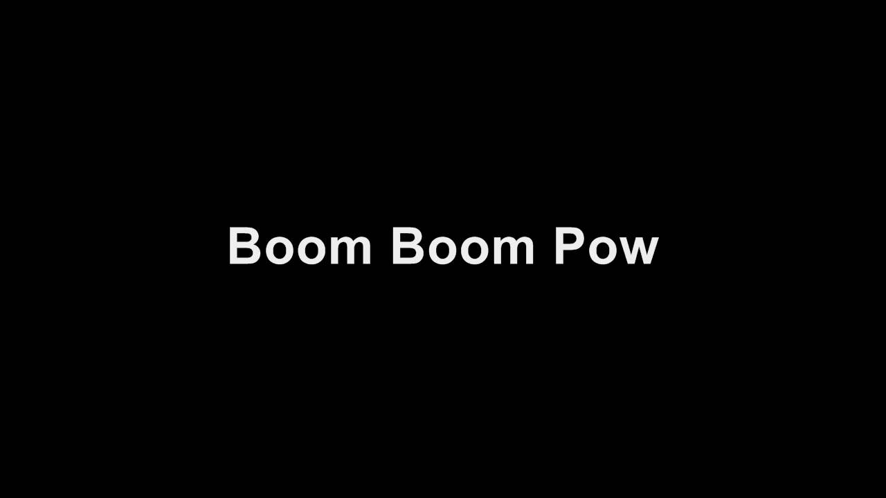 Boob boom pow lyrics