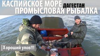 Промысловая рыбалка на Каспийском море Кизляр Дагестан
