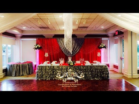 Faos events decoracion old hollywood red carpet rojo - Decoracion salon gris y blanco ...
