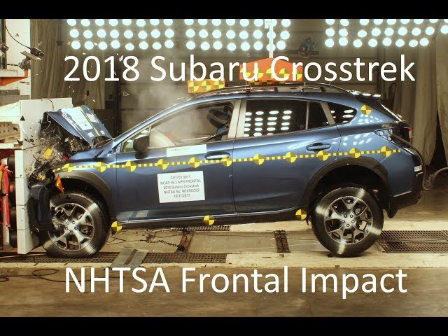 2018 2020 Subaru Xv Crosstrek Nhtsa Frontal Impact Youtube