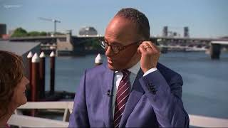 Lester Holt anchors Nightly News in Portland