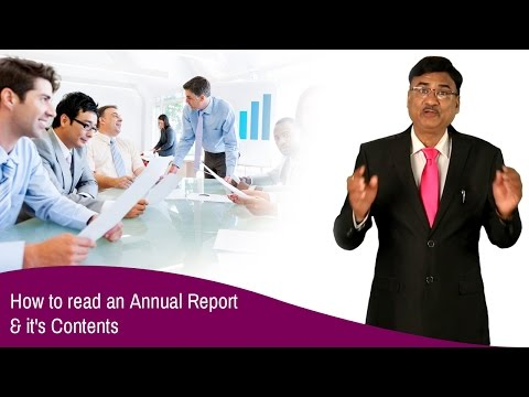 How to Read an Annual Report and it's Contents