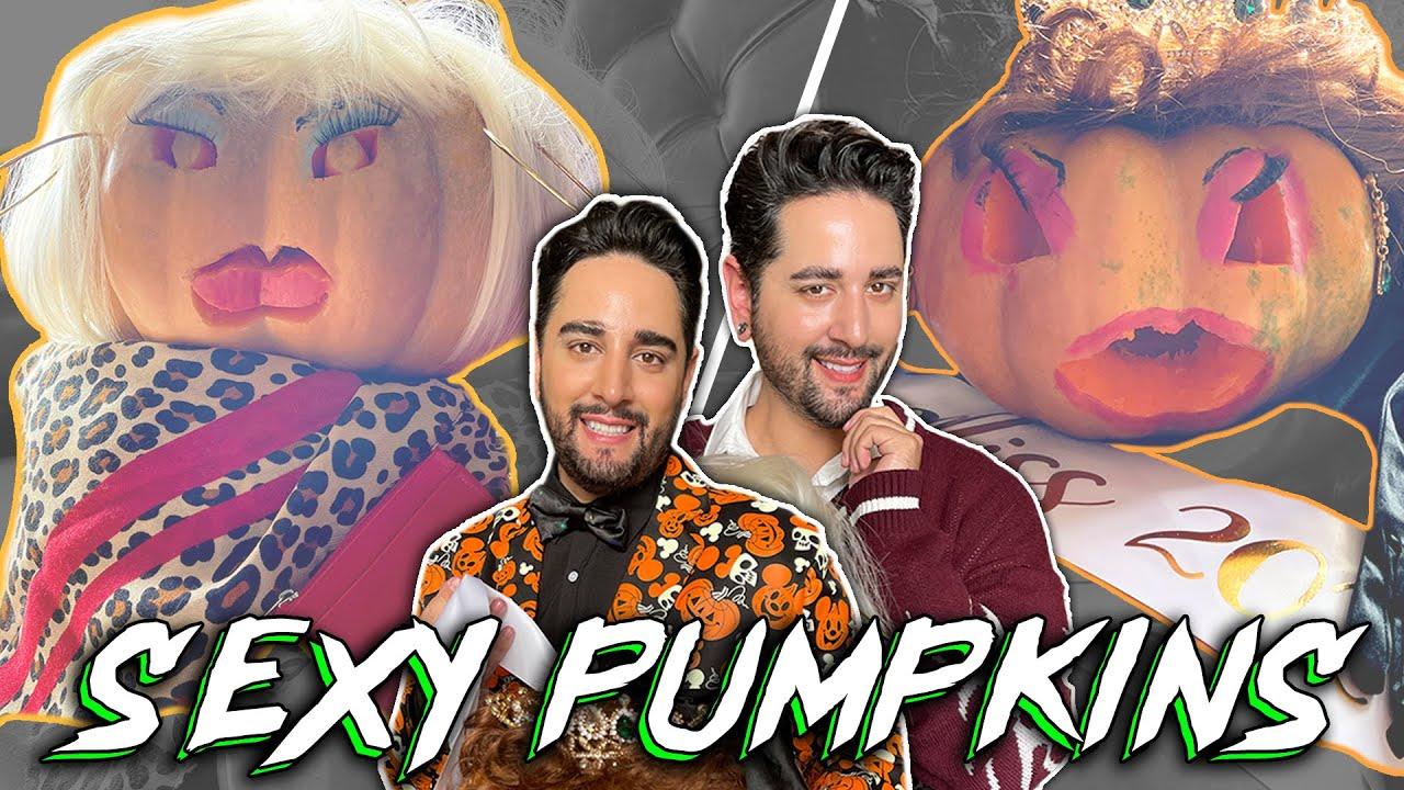 Sexy Pumpkin Carving - Robert vs James 🎃 👻 The Welsh Twins
