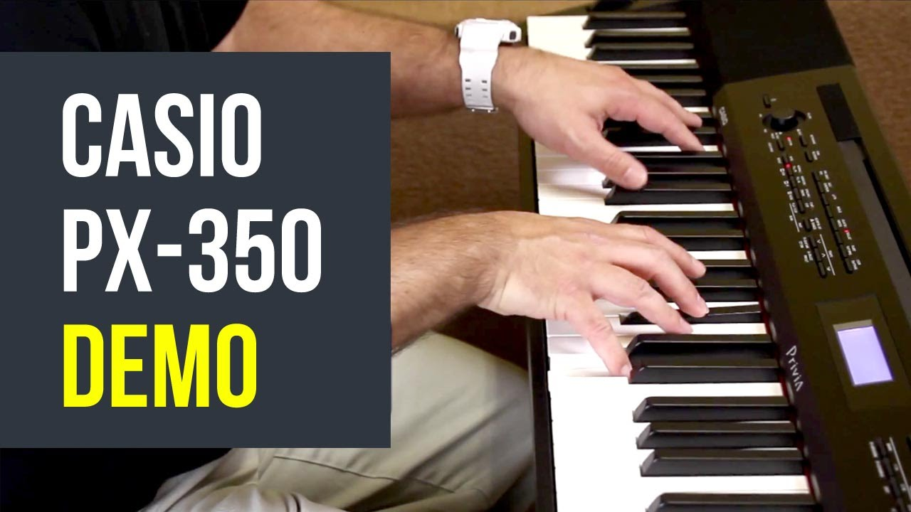 casio privia px 350 88 key digital piano demo austin bazaar youtube. Black Bedroom Furniture Sets. Home Design Ideas