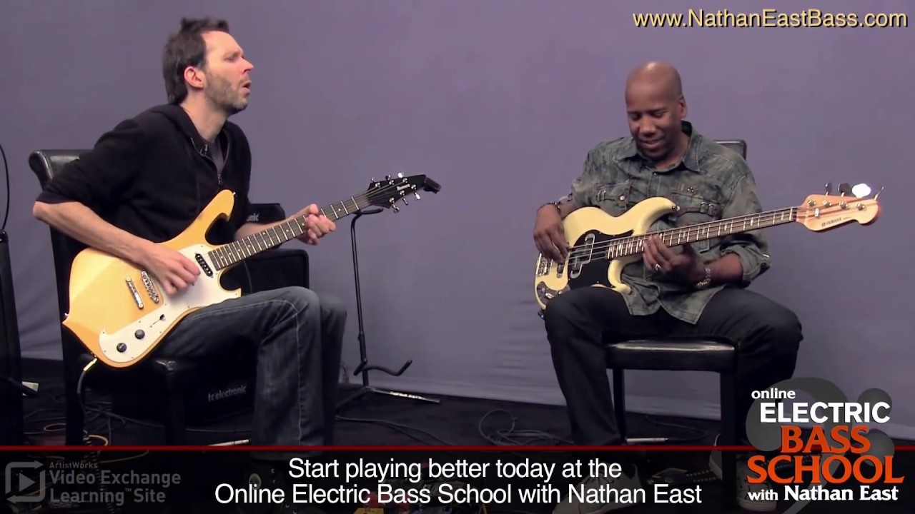 "Nathan East & Paul Gilbert: ""One Chord Challenge"" at ArtistWorks #1"
