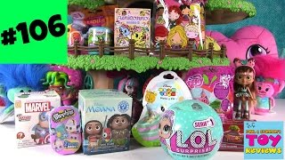 Blind Bag Treehouse #106 Unboxing Trolls Disney Moana Cars LOL Surprise | PSToyReviews