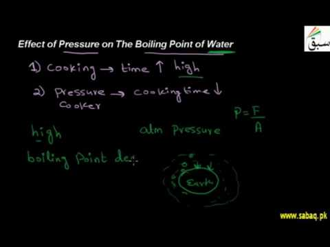Effect Of Pressure On The Boiling Point Of Water, Physics Lecture   Sabaq.pk  